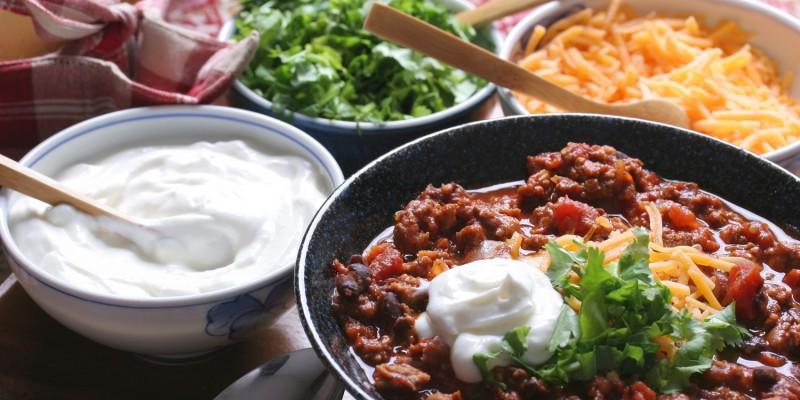 Leckere Salate kühl halten