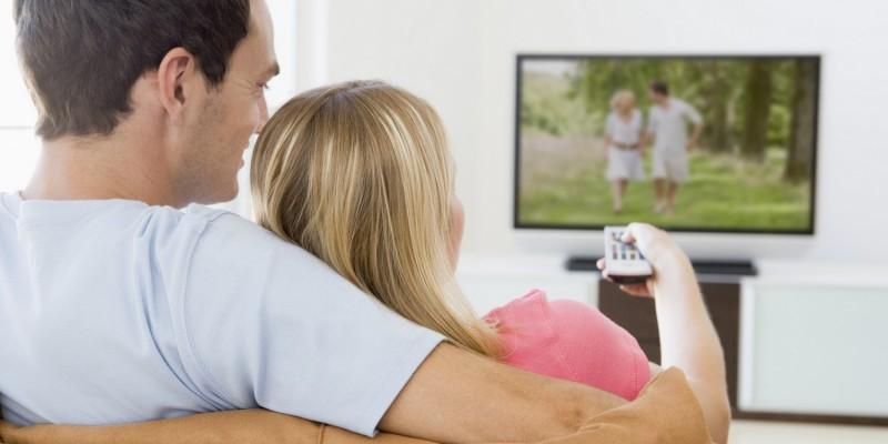 Fernsehabend im Wohnzimmer