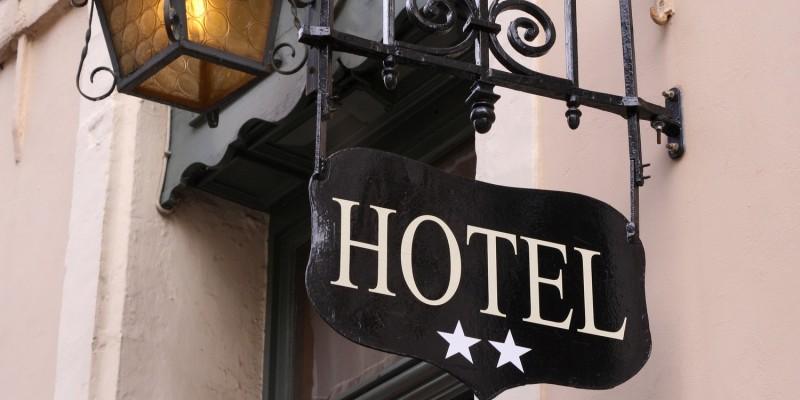 Einchecken ins Hotel
